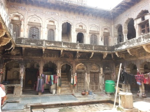 The havelis have been leased out to families, who act as caretakers for the rich Marwari owners