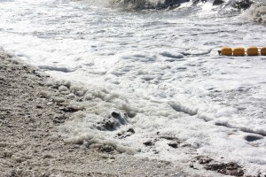 The dark foamy Sea